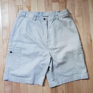 L.L. Bean Original Fit Cargo Khaki Shorts Size 14